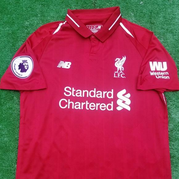 976a22fa01 New Balance Shirts | 201819 Liverpool Fc Soccer Jersey Salah | Poshmark